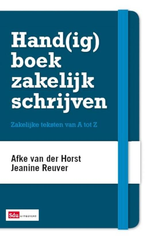 Hand(ig) boek zakelijk schrijven Image